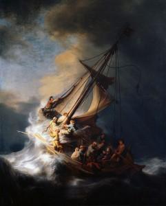 Rembrandt. Tempête sur le lac Tibériade