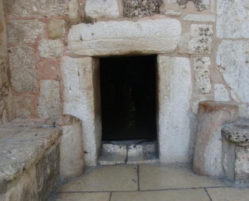 Porte de l'humilité avant de rentrer dans Basilique de la Nativité