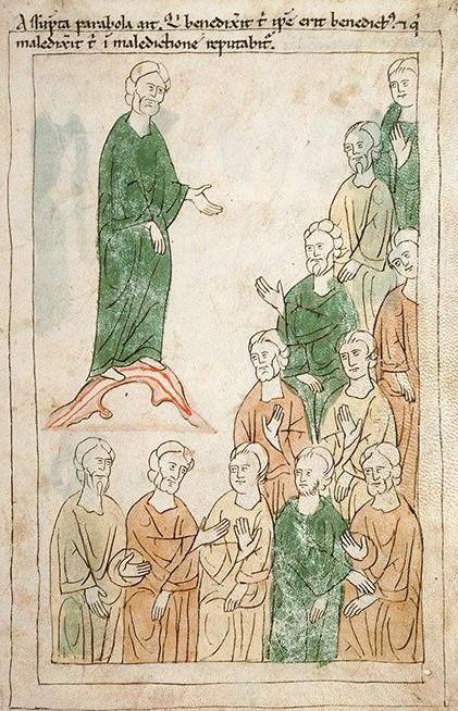 Oracle de Balaam adressé au peuple, Bible de Pampelune, XIIe siècle